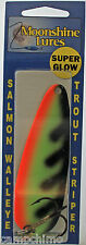 MOONSHINE LURES GLOW IN THE DARK CASTING SPOON 1 OZ. GLOW PERCH 128