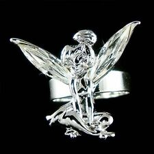 w Swarovski Crystal Fairy Angel Wings Tinkerbell Tinker Bell Adjustable Ring NEW