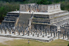 472086 Temple Of Warriors Chitzen Itza Mexico A4 Photo Print