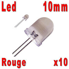 10x LED 10mm Rouges 30000mcd