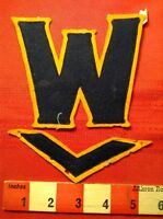 "OLD! Vintage 1930s High School Letter Jacket Patch ""W"" Letterman + V-Bar 63W"