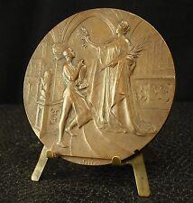 Médaille Brussels International Exhibition exposition Belgique 70 mm 1910 medal