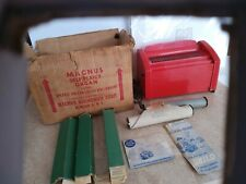 1952 Red Magnus Toy Organ # 5200 Harmonica Player Piano 3 rolls in Original Box
