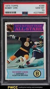 1975 Topps Hockey Bobby Orr #288 PSA 10 GEM MINT