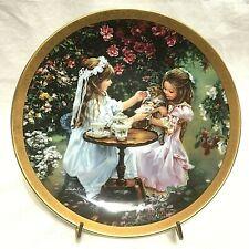 "Bradford Exchange,1997,Decorative Plate ""Tea For Three"",Enchanted Garden Series"