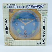 SUPER MARIO BROS Desktop Clock NINTENDO BANPRESTO Japan 2004 Blue Sky ver