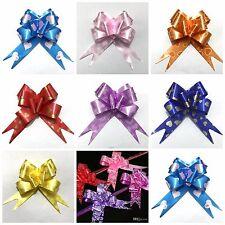 Pull Bows 30MM HEART DESIGNS Ribbon Wedding Car Decorations MIX COLOURS CHEAP