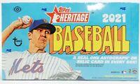 2021 Topps Heritage Baseball - (1) Hobby Box Random Team BREAK #001