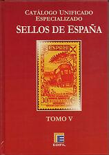 Catálogo Edifil Especializado  Serie Roja   Tomo V  NUEVO