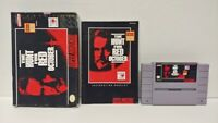 Hunt For Red October SNES Super Nintendo AUTHENTIC Tested Working Game Complete