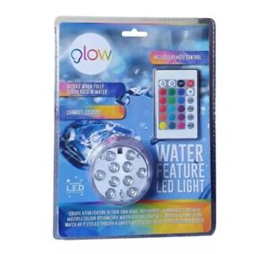 Glow Water Feature Changing LED Light With Remote Control  Ultra Bright Colours