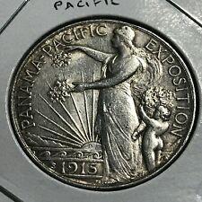 1915 PANAMA PACIFIC SILVER HALF DOLLAR COMMEMORATIVE RARE COIN
