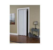 "Folding Door Closet Interior Room Dividers Sliding Track White 24""-36"" x 80"" NEW"