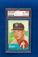 1963 TOPPS BASEBALL #546 HAL RENIFF HIGH # PSA 8 NM-MT NEW YORK YANKEES