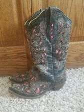 Women's Corral boots *Pink inlay* Size 8