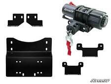 SuperATV Winch Mounting Plate & 3500 lb. Winch for Honda Pioneer 700 (2014+)