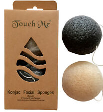 """2 Pack - Premium Konjac Natural Fiber Facial Cleaning Sponges by """"Touch Me"""""""