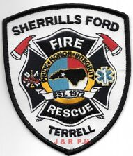 """*NEW*  Sherrills Ford  Fire - Rescue / Terrell, NC (4"""" x 4.5"""" size) fire patch"""
