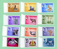 Lesotho 12 stamps , SC 25 - 36, Definatives , 1967, MNH