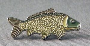 Common Carp Fish Pin Badge