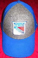 New Era Mens 39FIFTY® New York Rangers Blue / Gray Hat Sz L-XL - LAST ONE