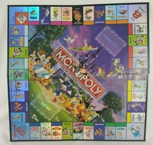 2001 Monopoly Disney Edition Replacement Pieces Game Board