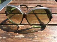 Vintage Oversize grüne Sonnenbrille alter Lagerbestand Optikers ungetragen