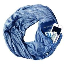 SHOLD IT Women's 'SHOLDIT' CONVERTIBLE SHIMMER Blue SCARF WITH POCKET - OSFA