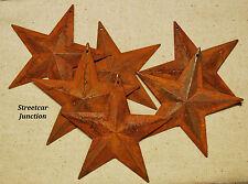"10 Rusty Dimensional 2D Barn Stars w/ Hole ... 3-3/4"" .. Primitive Crafts..."