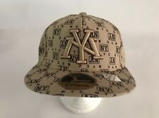 NY New York Baseball Fitted  Hat Cap Color Brown Size Large Embroidered