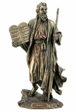Moses Holding The Ten Commandments Statue Sculpture Figure - Gift Boxed