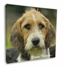 """Welsh Fox Terrier Dog """"Yours Forever..."""" 12""""x12"""" Wall Art Canvas De, AD-FT4y-C12"""