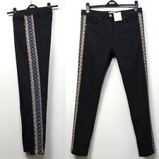 509592532090d M s Indigo Embroidered Mid Rise SKINNY Leg Jeans Size 16 Long Black