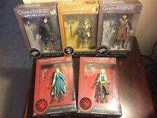 FUNKO GAME OF THRONES LOT OF 5 FIGURES TYRION, DAENERYS, JON SNOW AND NED STARK