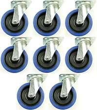 8x 125 mm SL robustes roulettes de Blue Wheels Roulette pivotante roue