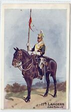 17th LANCERS: Military postcard (C14829)