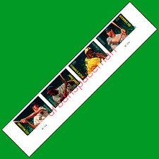 4694c-4697c MLB Baseball All Stars Imperf Lower Strip4 w Pl #s DiMaggio Williams