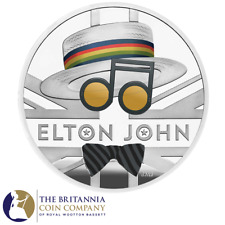 Royal Mint Elton John 2020 UK One Ounce Silver Proof Coin