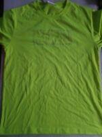 NWT Marvel Comics Logo flourescent neon yellow Men's t-shirt size L JAPAN IMPORT