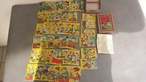 Ancien jeu des 7 FAMILLES Images satiriques des métiers avec boîte + notice.