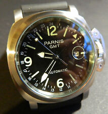 PARNIS GMT: Automatic 17 jewel :50mm: All Stainless:Military:Navy:
