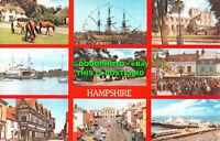 R534201 Hampshire. New Forest Ponies. Lymington. Southampton. H. M. S. Victory.