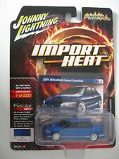 2004 Mitsubishi Lancer Evolution  Blue *RR* Johnny Lightning Auto World 1:64 NEU