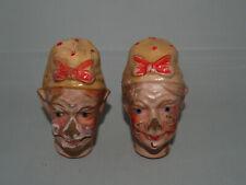 Lot de 2 têtes carton bouili - MERE MICHEL Marionnette théâtre guignol - Defauts