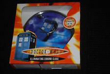 More details for doctor who chrome illuminating tardis wall clock - rare oop - david tennant