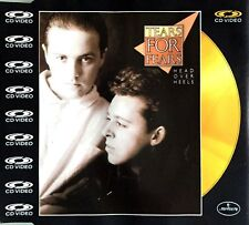 CD VIDEO TEARS FOR FEARS HEAD OVER HEELS CD OR/GOLD EDITION RARE COLLECTOR 1988