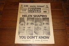 NME 30 JUNE 1961 HELEN SHAPIRO LINDA SCOTT ADAM FAITH EDDIE COCHRAN KARL DENVER