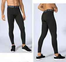 Mens Workout Compression Tights Gym Under Base Layer Running Long Pants