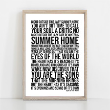 More details for grateful dead eyes of the world song lyrics poster print wall art