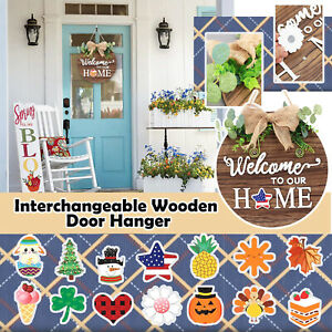 Welcome Wooden Door Hanger Seasonal Home Sign Ornaments For Home Decoration